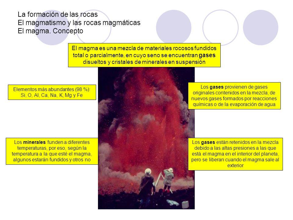 Elementos más abundantes (98 %): Si, O, Al, Ca, Na, K, Mg y Fe