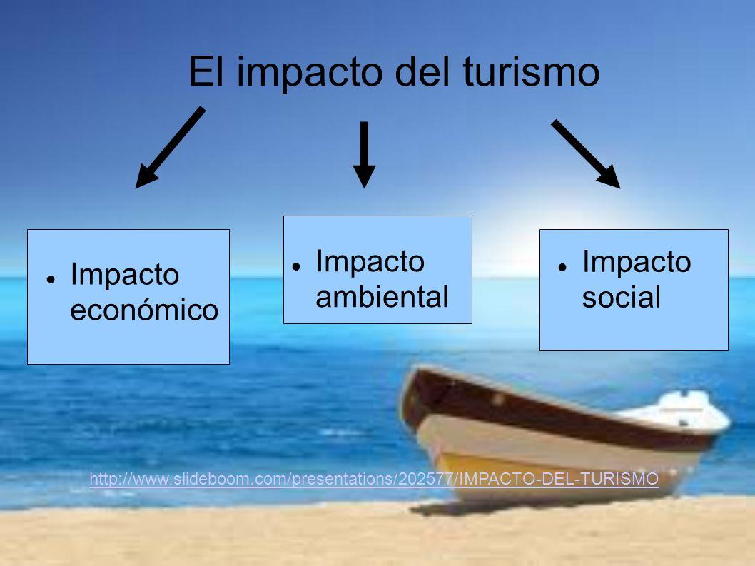 El impacto del turismo Impacto ambiental Impacto social