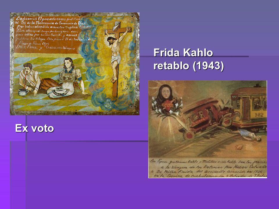 Frida Kahlo retablo (1943) Ex voto