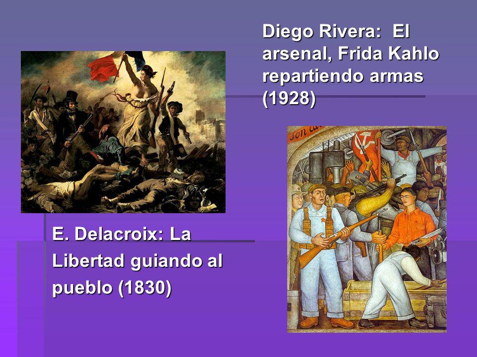 Diego Rivera: El arsenal, Frida Kahlo repartiendo armas (1928)
