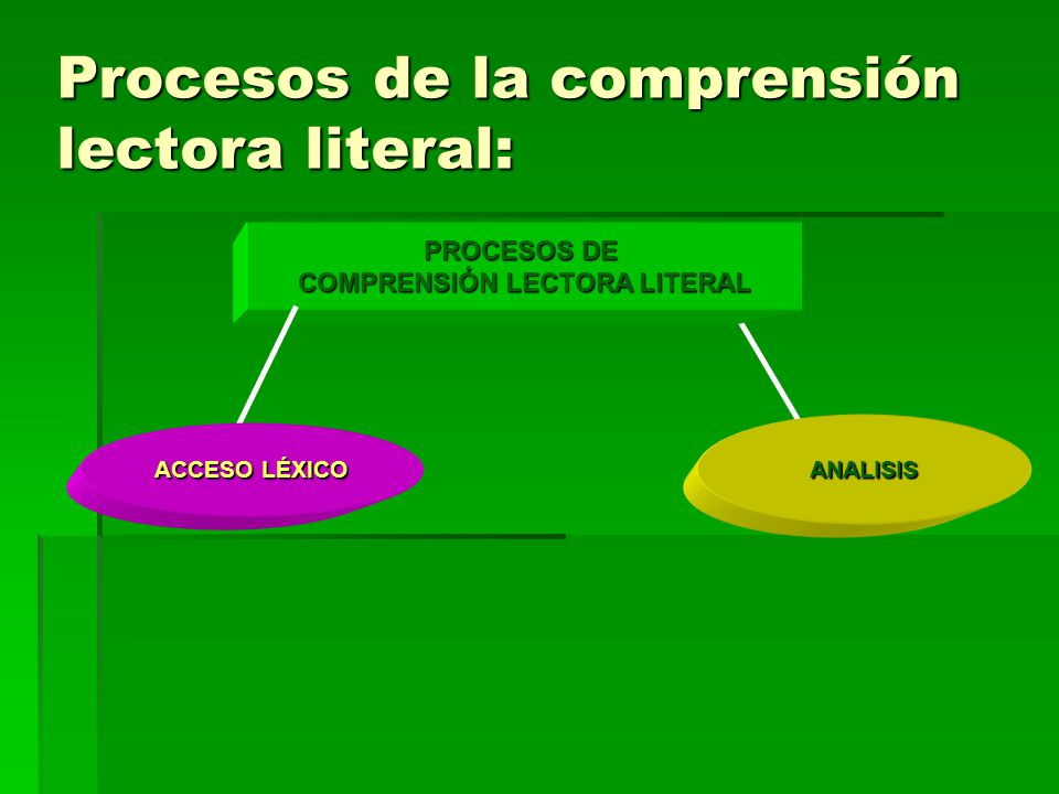 Procesos de la comprensión lectora literal: