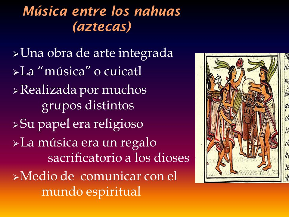 Música entre los nahuas (aztecas)