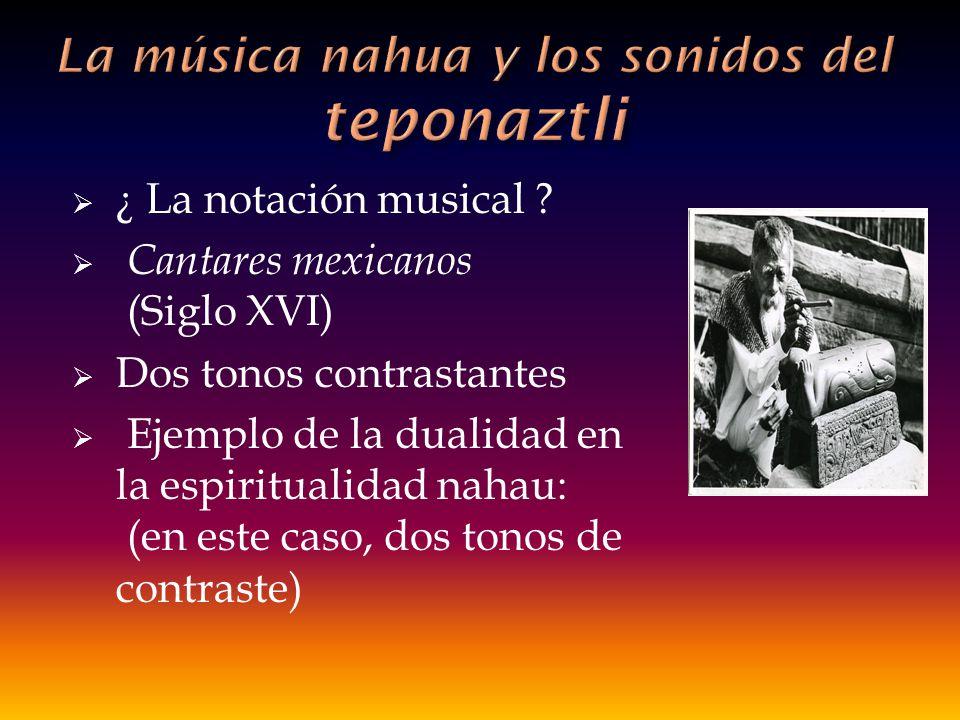 La música nahua y los sonidos del teponaztli