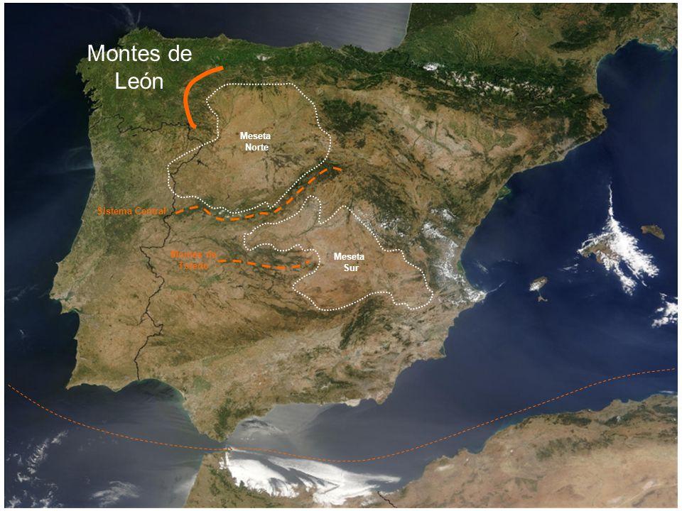 Montes de León Meseta Norte Sistema Central Montes de Meseta Toledo