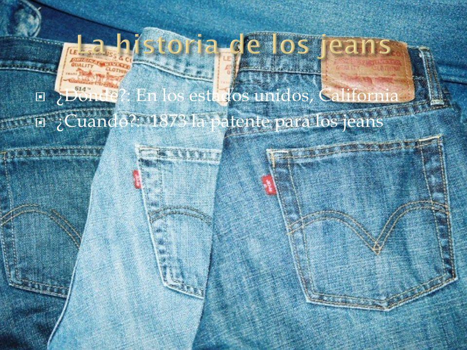 La historia de los jeans