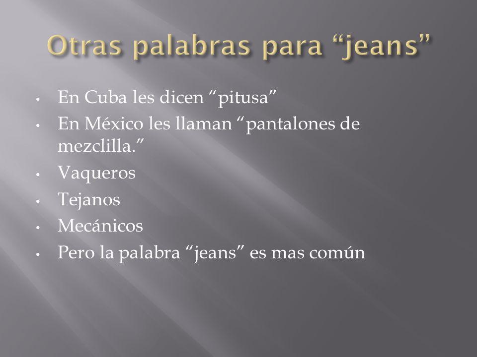 Otras palabras para jeans