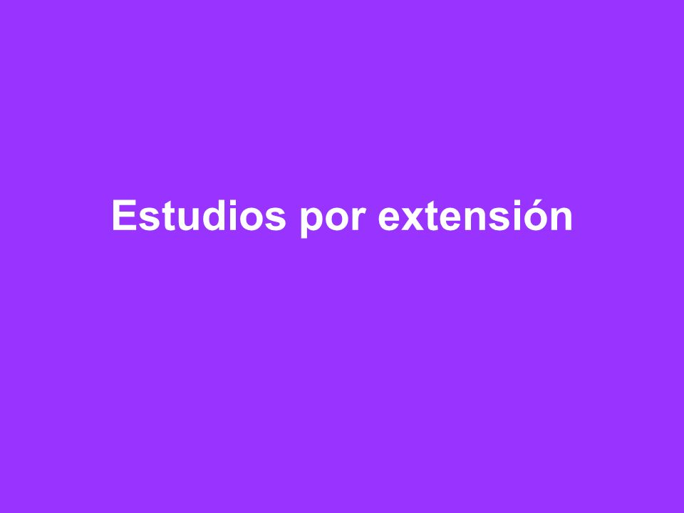 Estudios por extensión