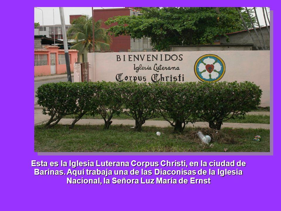 Esta es la Iglesia Luterana Corpus Christi, en la ciudad de Barinas