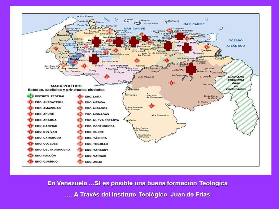 En Venezuela …SI es posible una buena formación Teológica