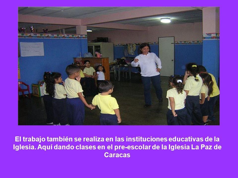 El trabajo también se realiza en las instituciones educativas de la Iglesia.