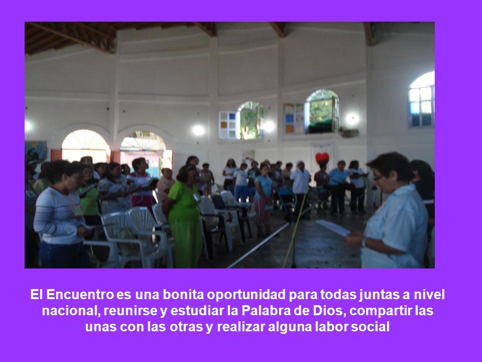 El Encuentro es una bonita oportunidad para todas juntas a nivel nacional, reunirse y estudiar la Palabra de Dios, compartir las unas con las otras y realizar alguna labor social