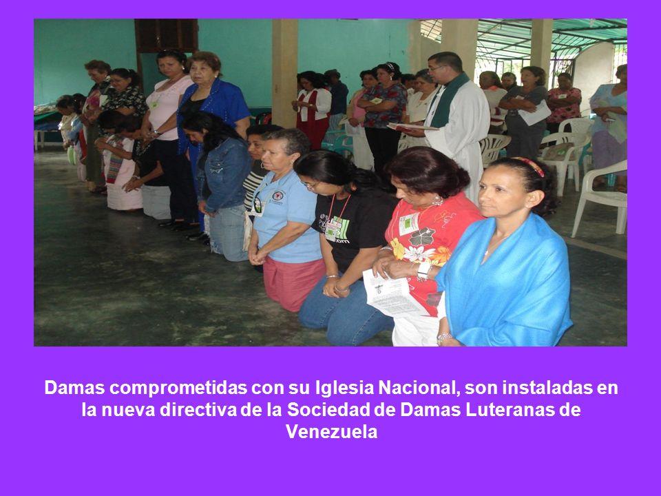 Damas comprometidas con su Iglesia Nacional, son instaladas en la nueva directiva de la Sociedad de Damas Luteranas de Venezuela