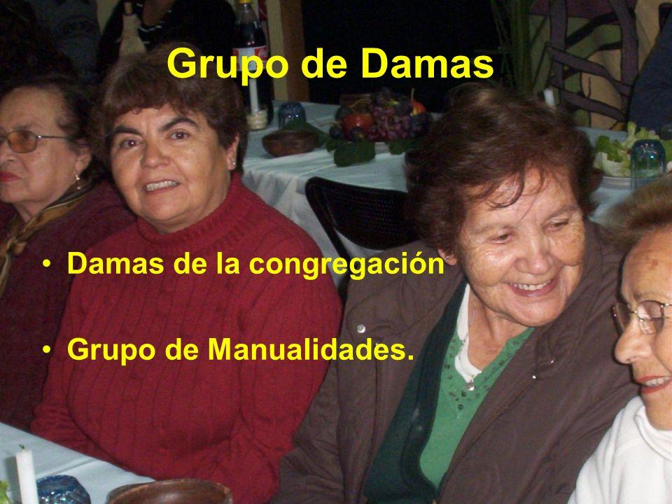 Grupo de Damas. Damas de la congregación Grupo de Manualidades.