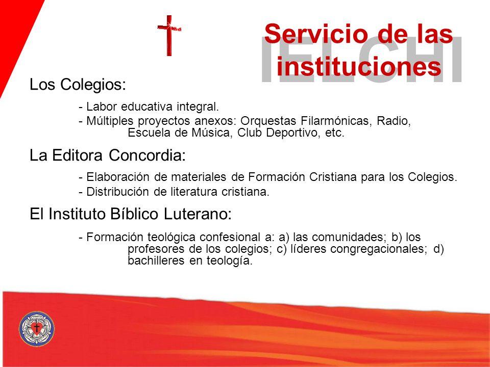 Servicio de las instituciones