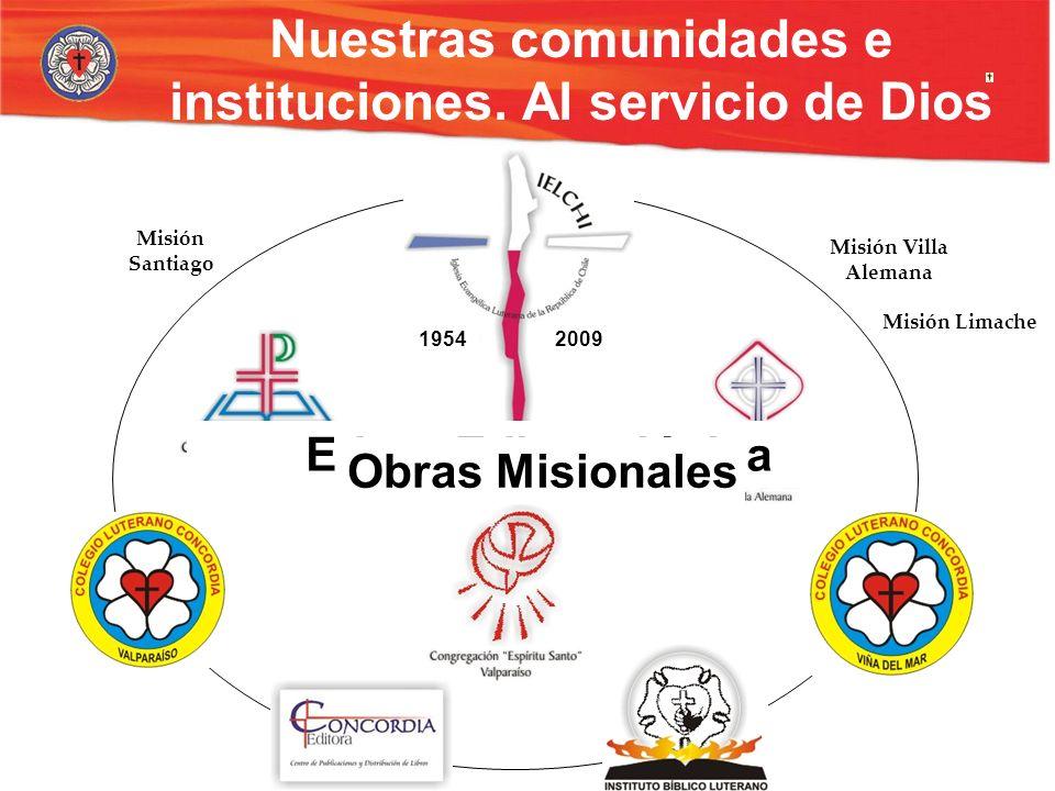 Nuestras comunidades e instituciones. Al servicio de Dios