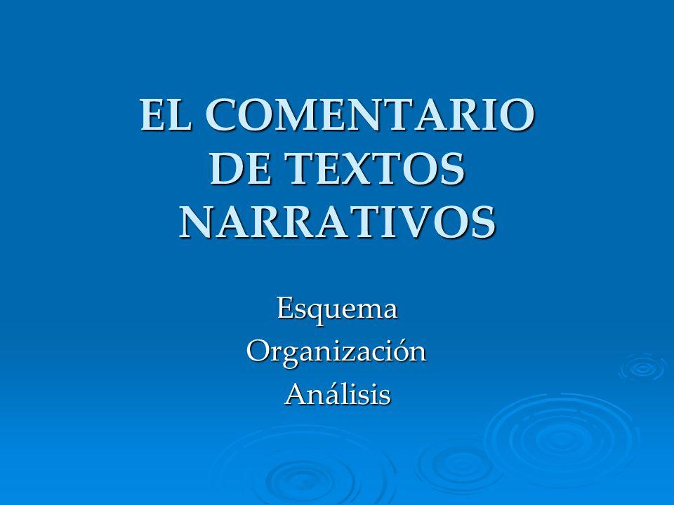 EL COMENTARIO DE TEXTOS NARRATIVOS