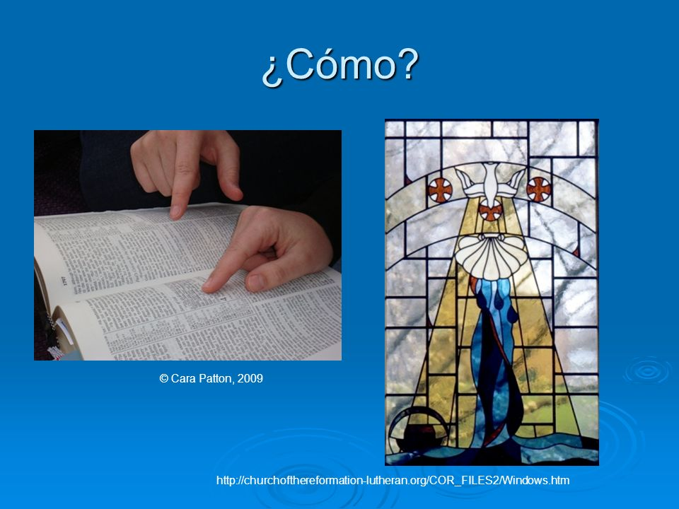 ¿Cómo © Cara Patton, 2009 http://churchofthereformation-lutheran.org/COR_FILES2/Windows.htm