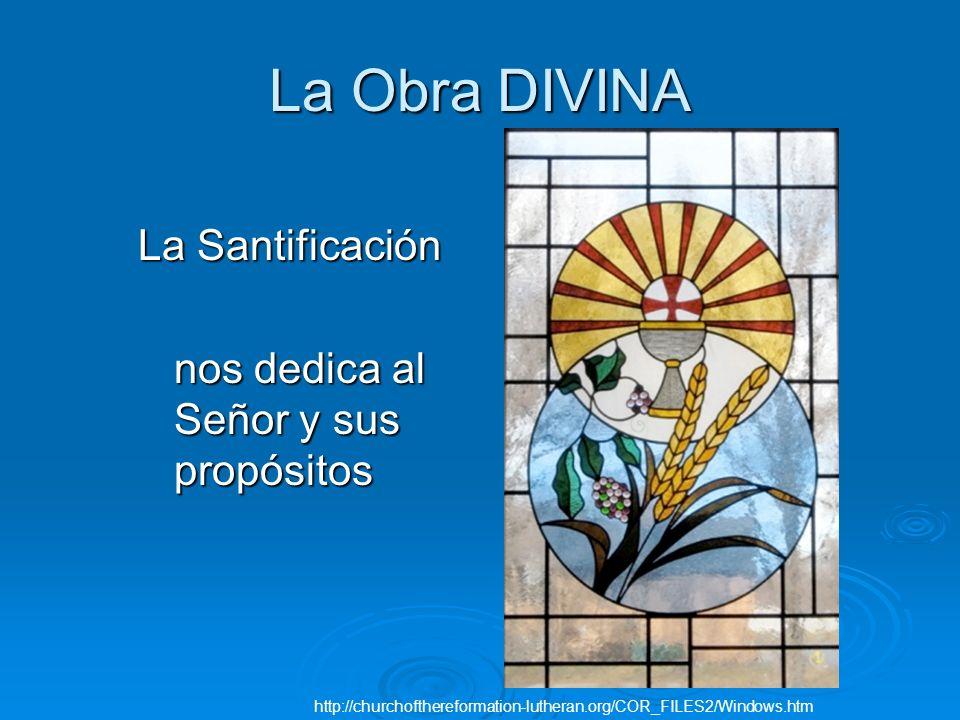 La Obra DIVINA La Santificación nos dedica al Señor y sus propósitos