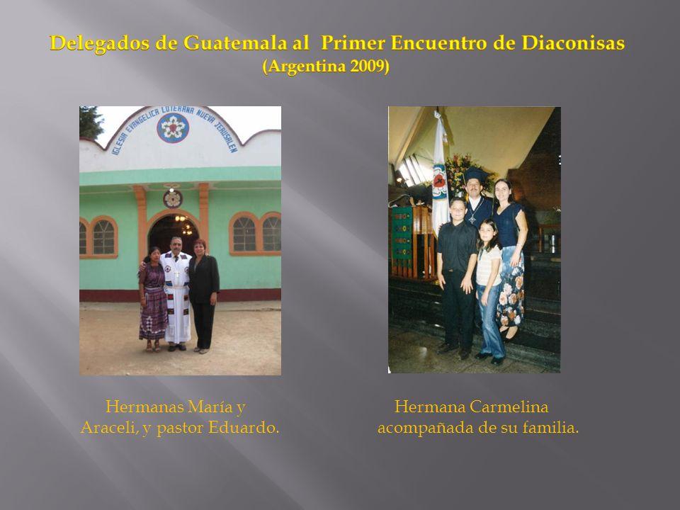 Delegados de Guatemala al Primer Encuentro de Diaconisas