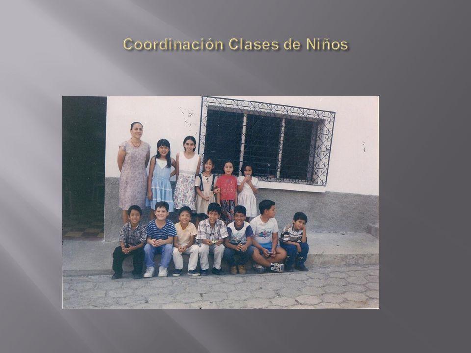 Coordinación Clases de Niños