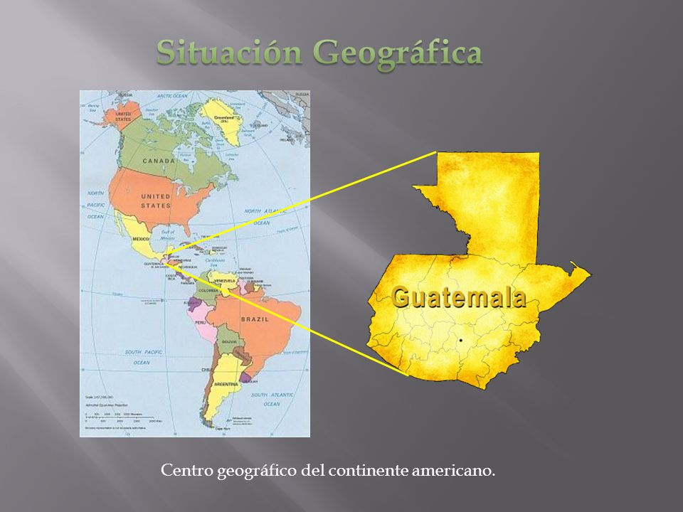 Situación Geográfica Centro geográfico del continente americano.