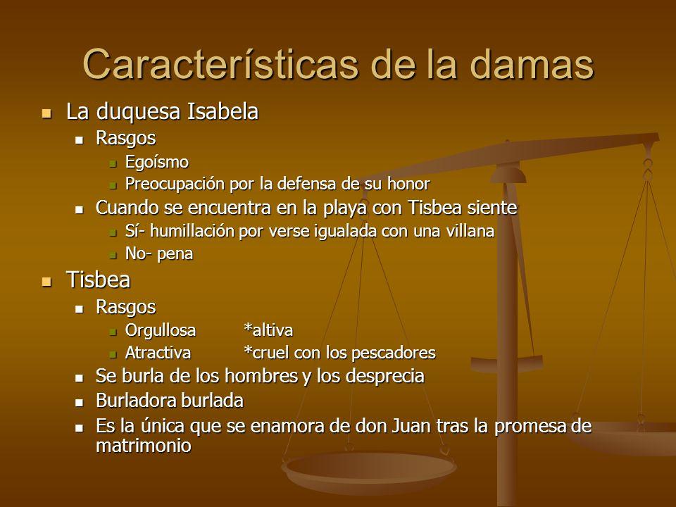 Características de la damas