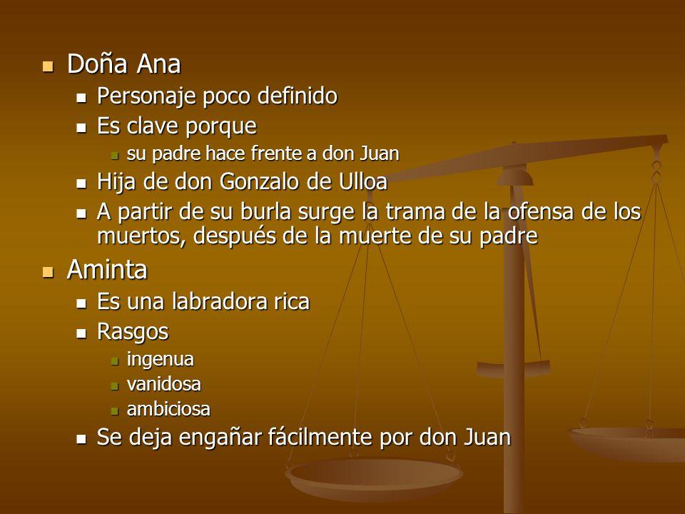 Doña Ana Aminta Personaje poco definido Es clave porque
