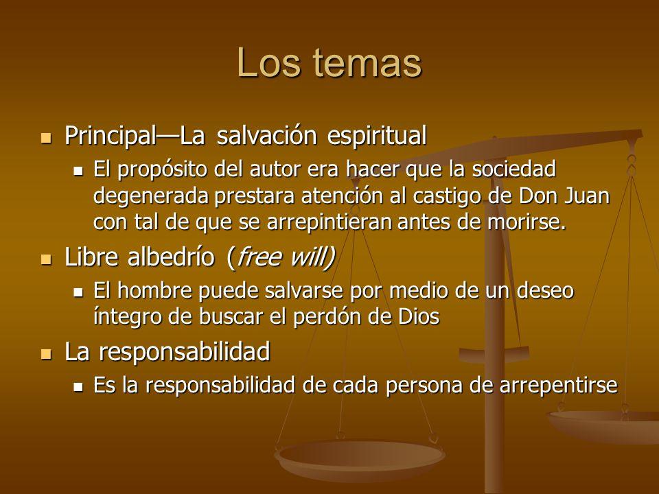 Los temas Principal—La salvación espiritual Libre albedrío (free will)