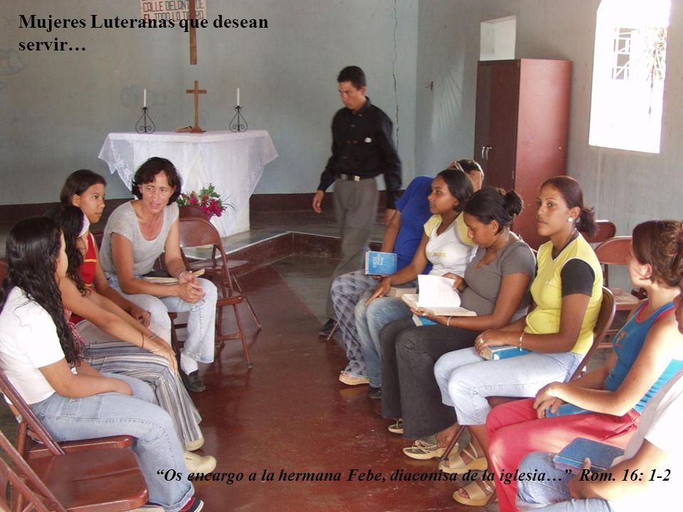 Mujeres Luteranas que desean servir…