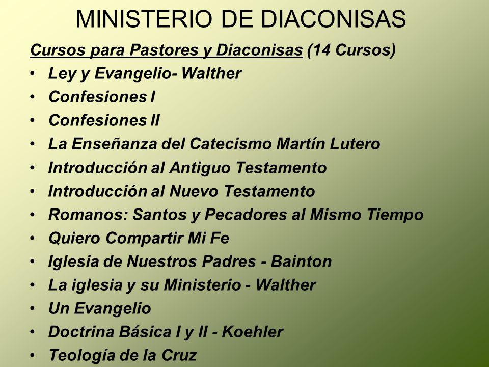 MINISTERIO DE DIACONISAS