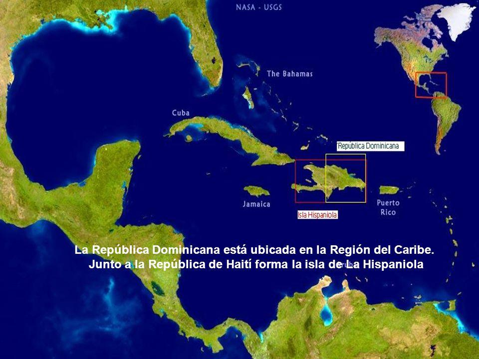 La República Dominicana está ubicada en la Región del Caribe.