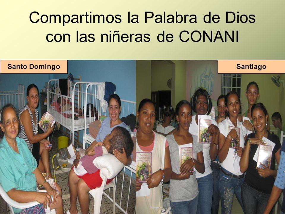 Compartimos la Palabra de Dios con las niñeras de CONANI