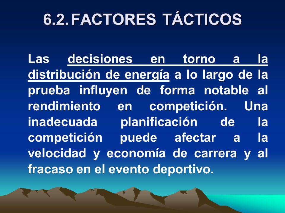 6.2. FACTORES TÁCTICOS