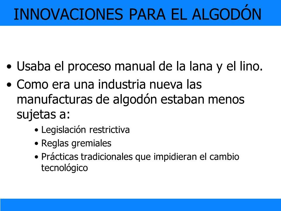 INNOVACIONES PARA EL ALGODÓN