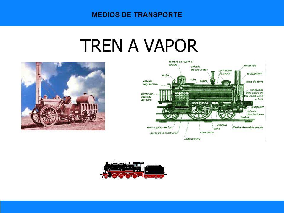 MEDIOS DE TRANSPORTE TREN A VAPOR
