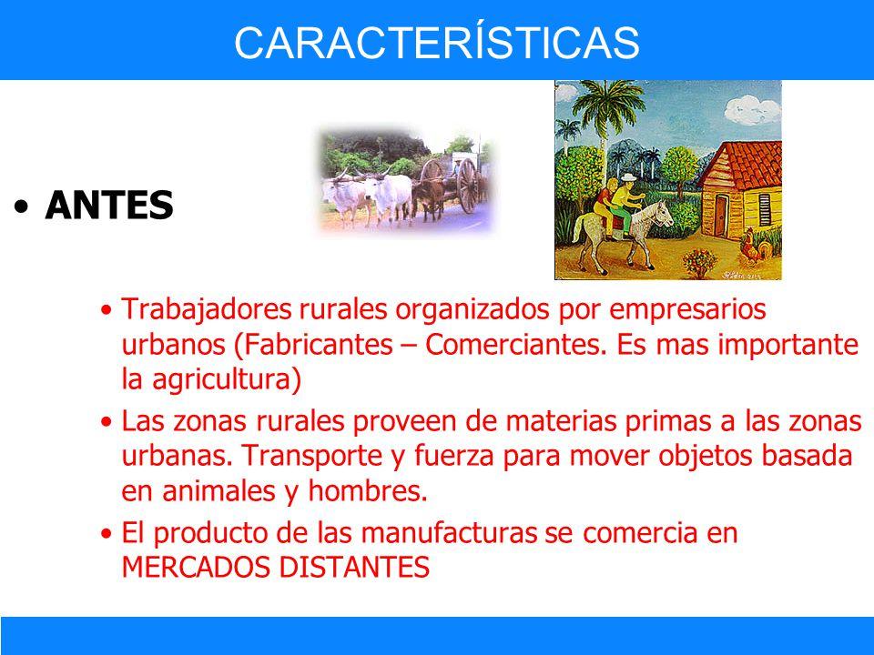 CARACTERÍSTICAS ANTES