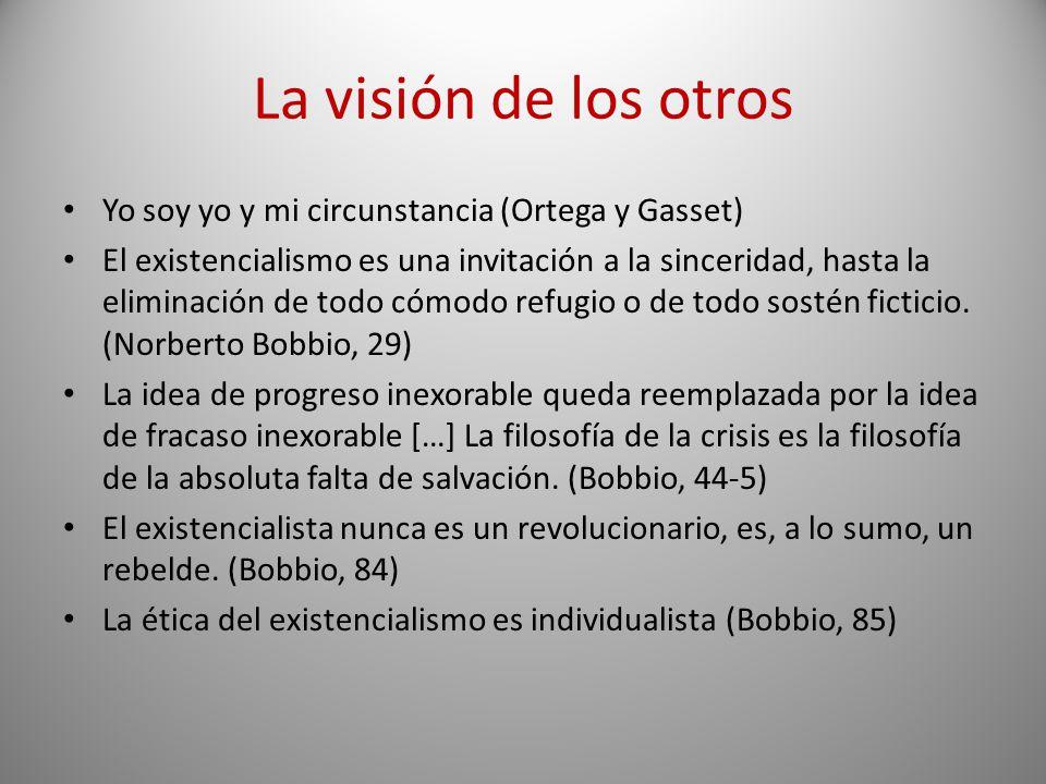 La visión de los otros Yo soy yo y mi circunstancia (Ortega y Gasset)