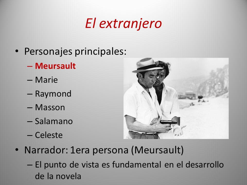 El extranjero Personajes principales: