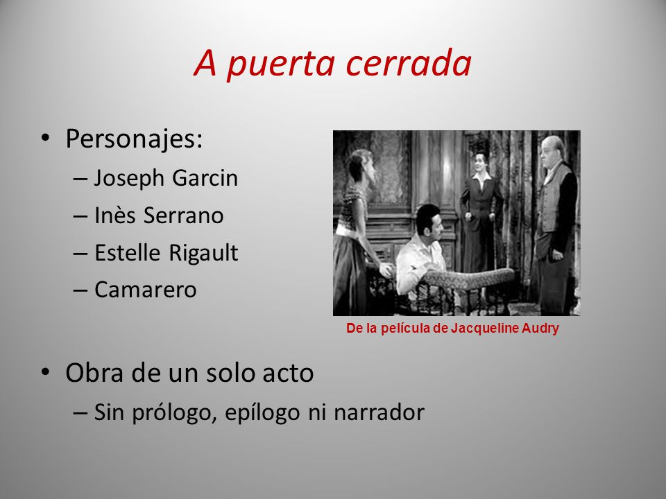 De la película de Jacqueline Audry
