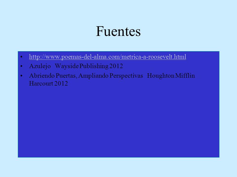 Fuentes http://www.poemas-del-alma.com/metrica-a-roosevelt.html