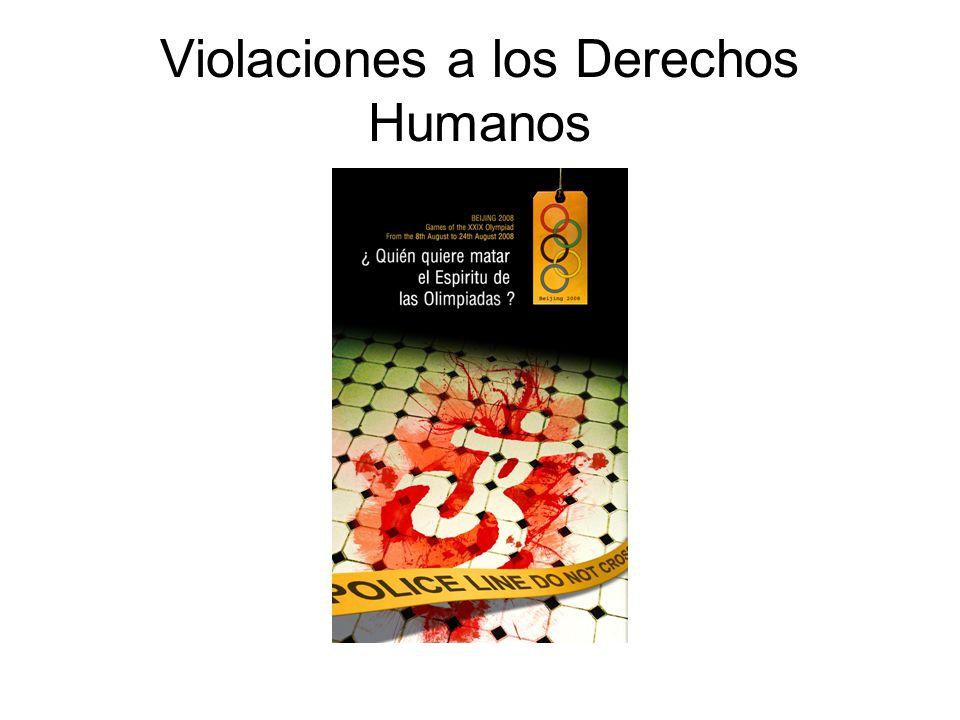 Violaciones a los Derechos Humanos
