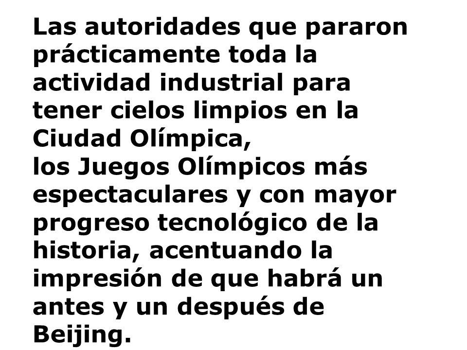 Las autoridades que pararon prácticamente toda la actividad industrial para tener cielos limpios en la Ciudad Olímpica,