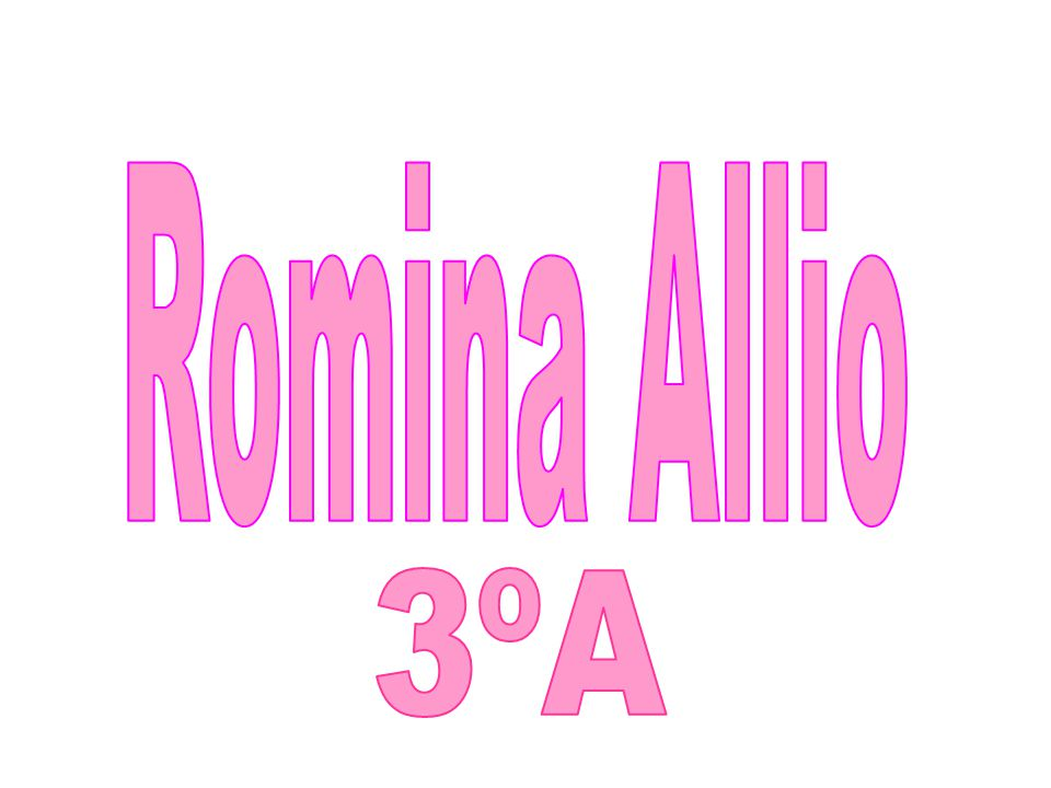 Romina Allio 3ºA