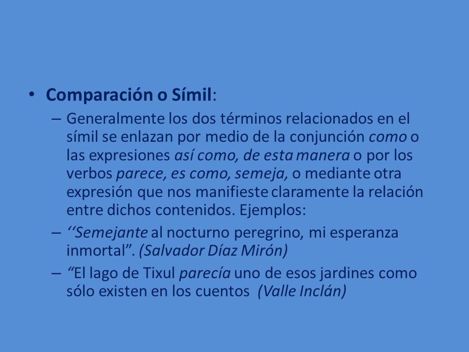 Comparación o Símil: