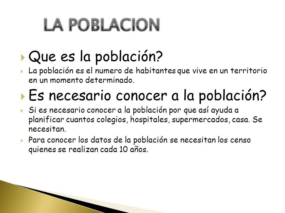 LA POBLACION. - ppt descargar