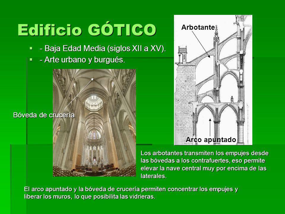 Edificio GÓTICO - Baja Edad Media (siglos XII a XV).