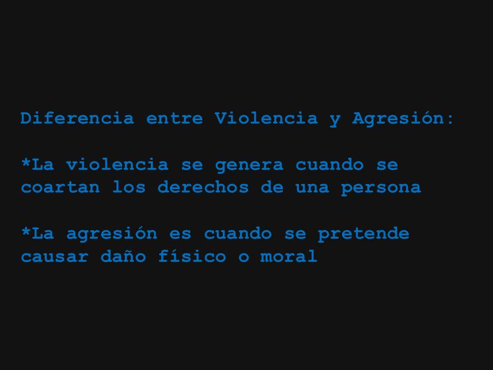 Diferencia entre Violencia y Agresión: