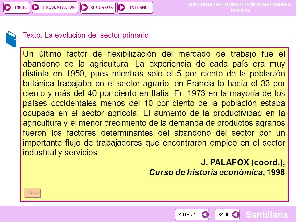 Curso de historia económica, 1998