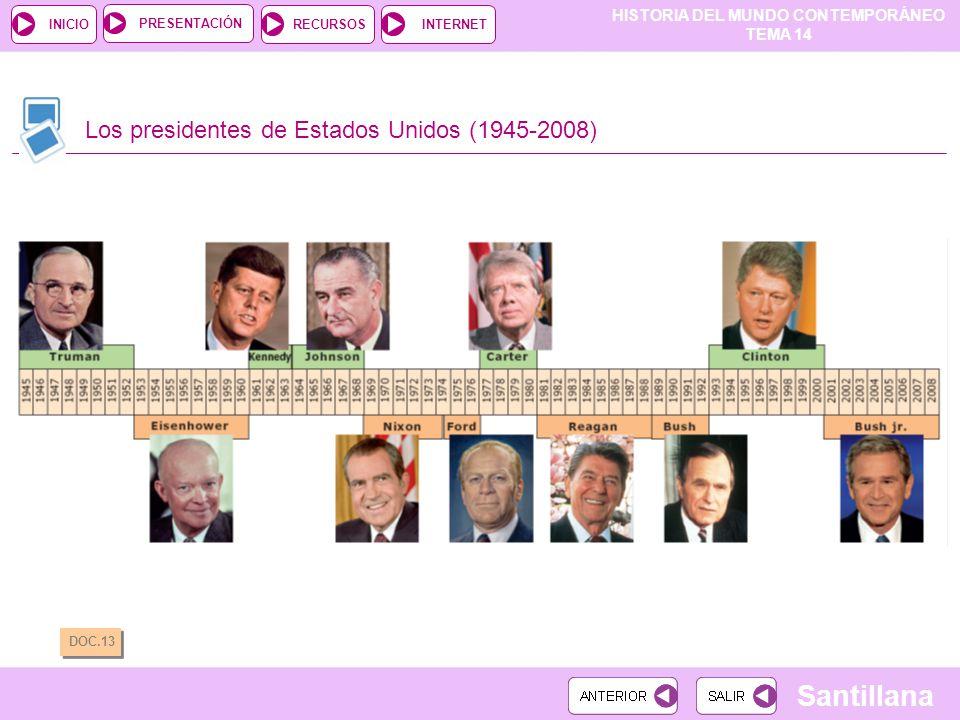 Los presidentes de Estados Unidos (1945-2008)