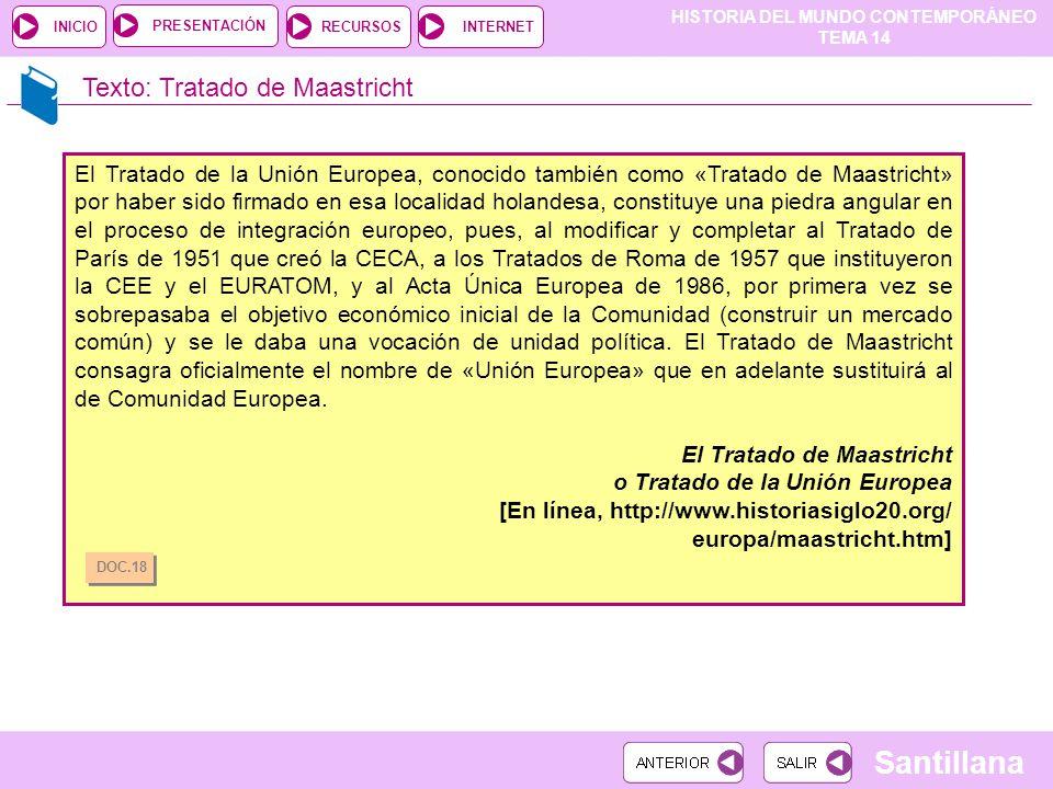 Texto: Tratado de Maastricht